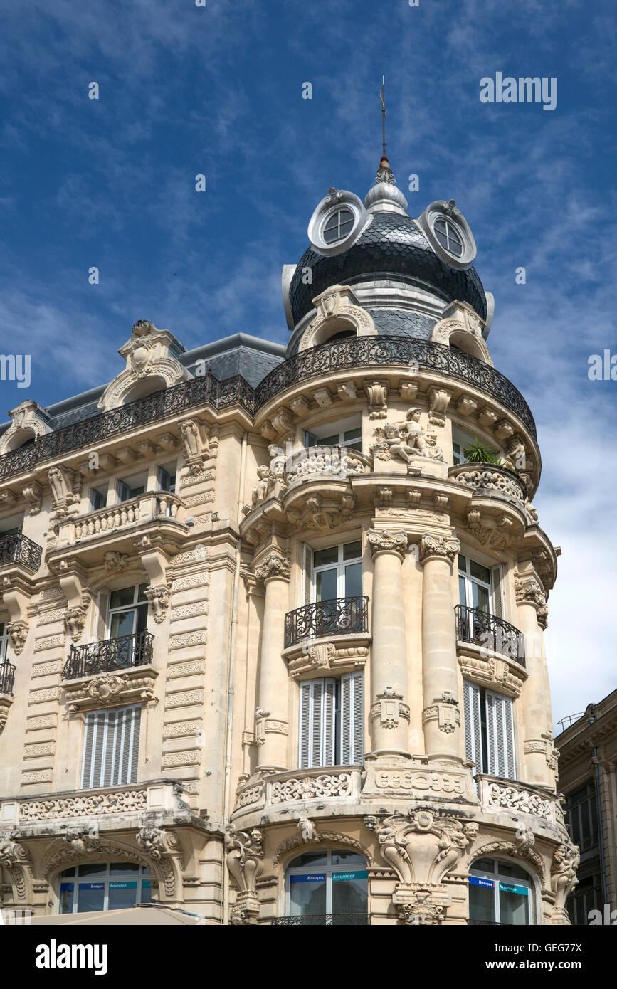 Place de la Comedie, Art Deco building , Montpellier, France, Stock Photo