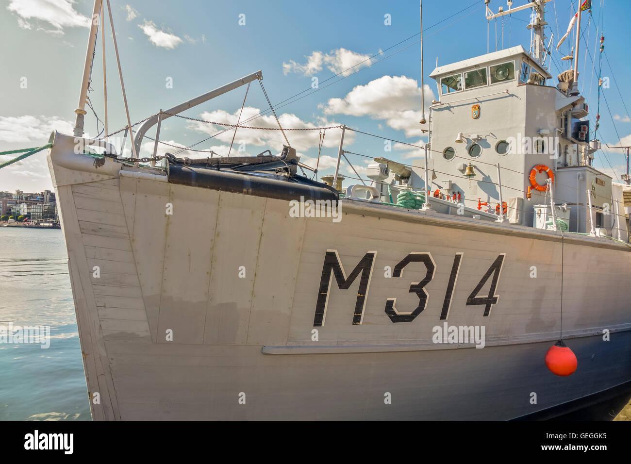 Norwegian Minesweeper M314 Oslo Harbour Norway Stock Photo