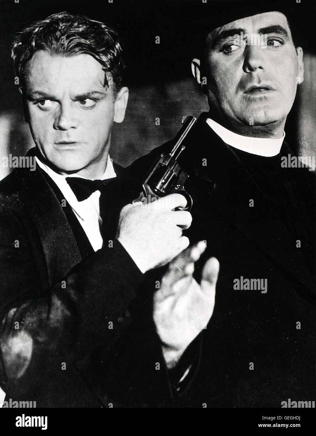 James Gagney, Pat O'Brian *** Local Caption *** 1938, Angels With Dirty Faces, Chicago - Engel Mit Schmutzigen Gesichtern Stock Photo