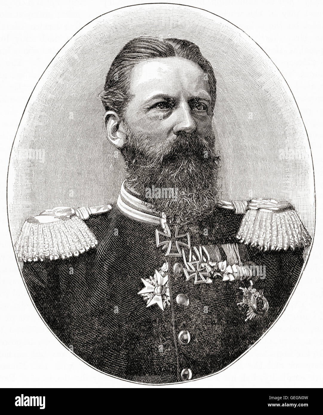 Frederick III, 1831 – 1888. German Emperor and King of Prussia for ninety-nine days in 1888, the Year of the Three - Stock Image