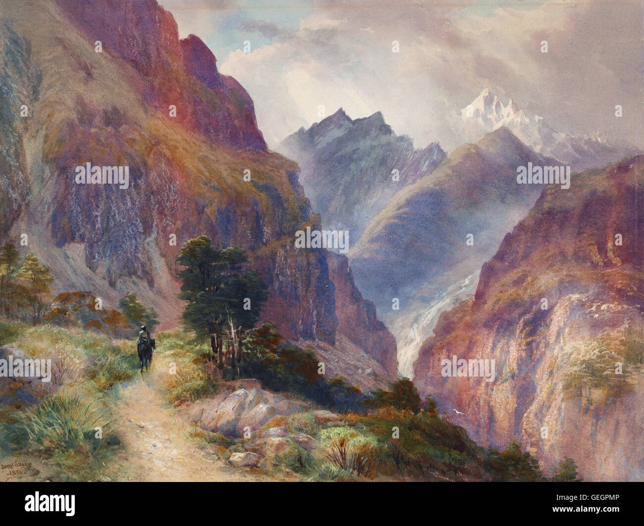 John Gully - In the Southern Alps - Stock Image