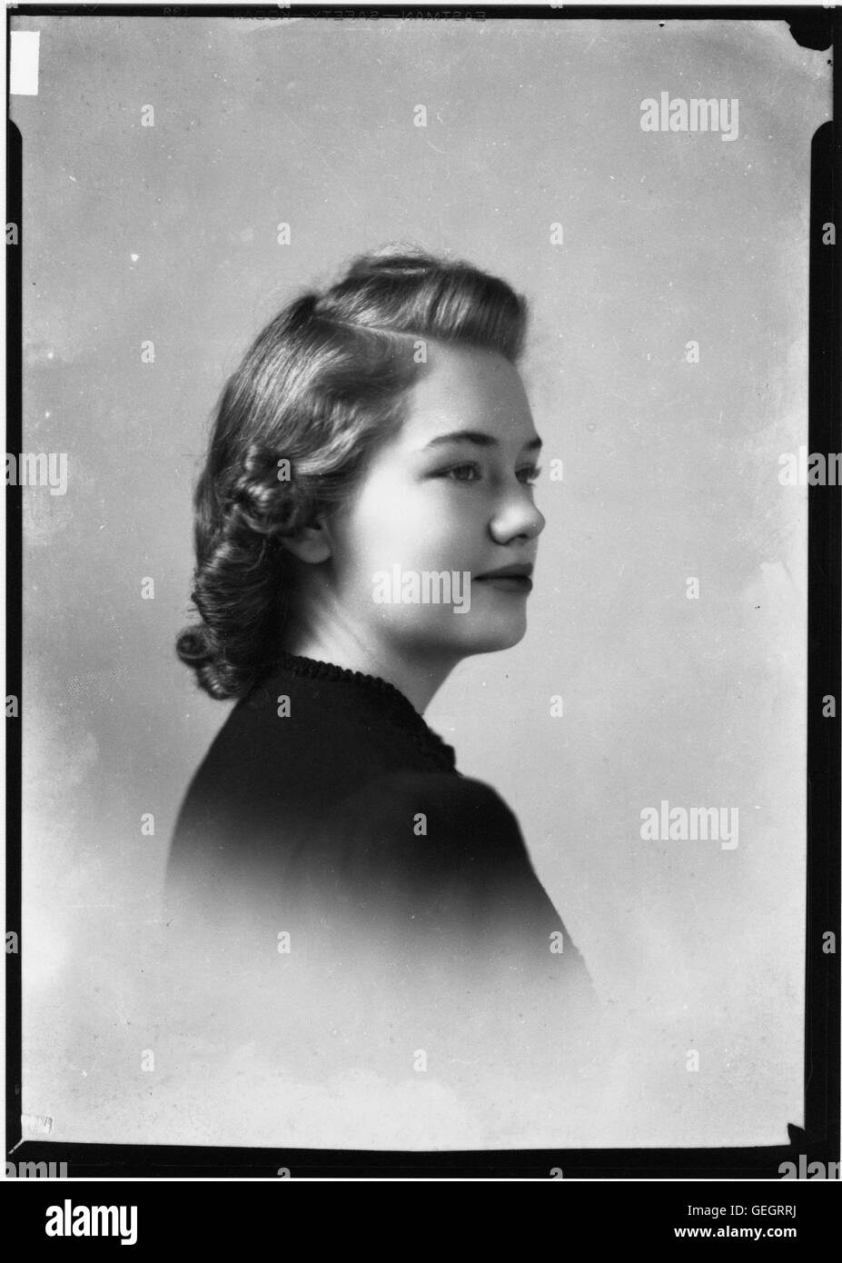 Portrait photograph of Marianne Thaxton - Stock Image