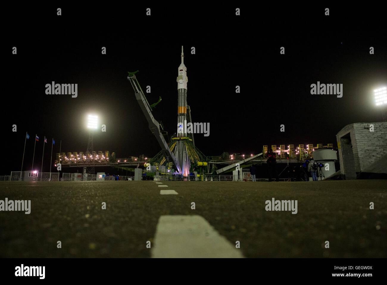 Exp 47 Soyuz Raising  03160024 - Stock Image