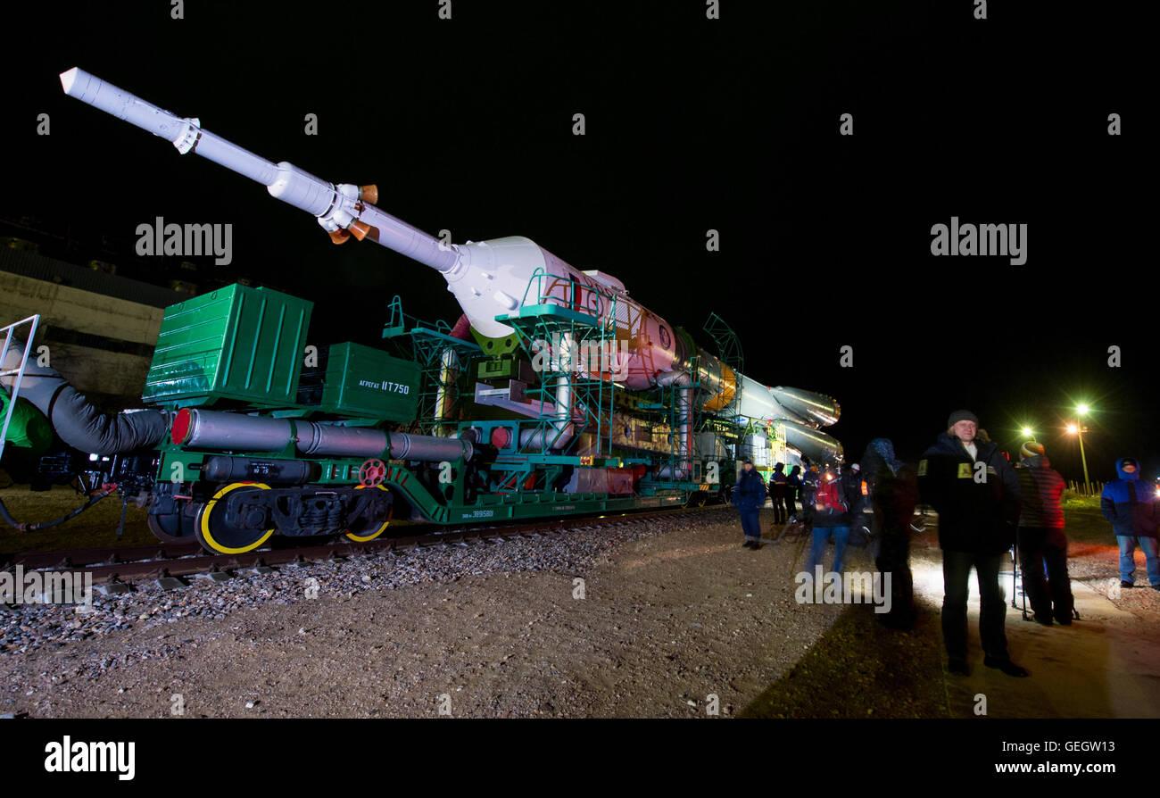 Exp 47 Soyuz Rollout  03160003 - Stock Image