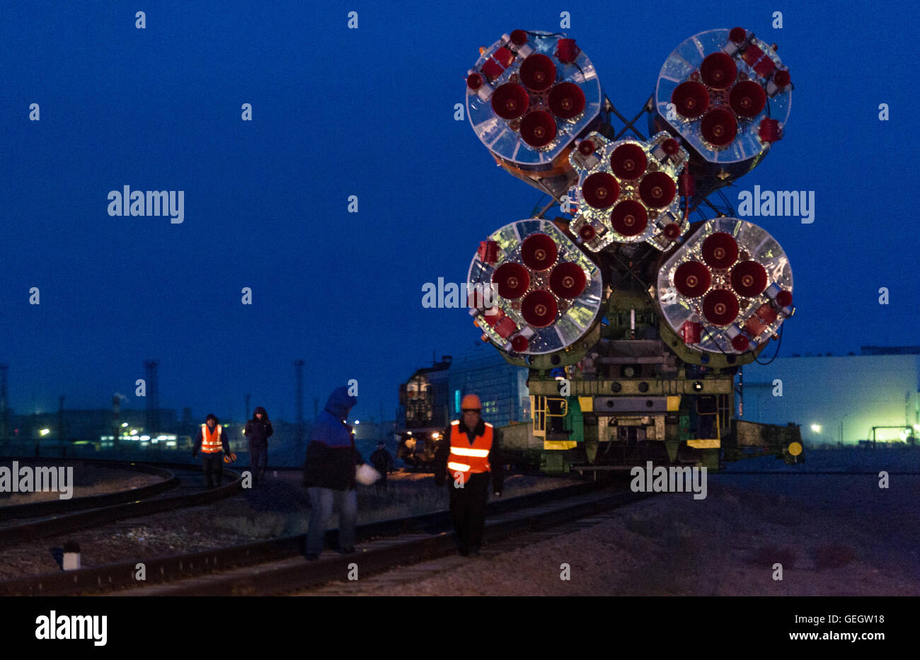 Exp 47 Soyuz Rollout  03160006 Stock Photo