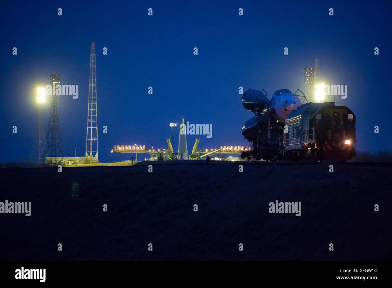 Exp 47 Soyuz Rollout  03160009 - Stock Image