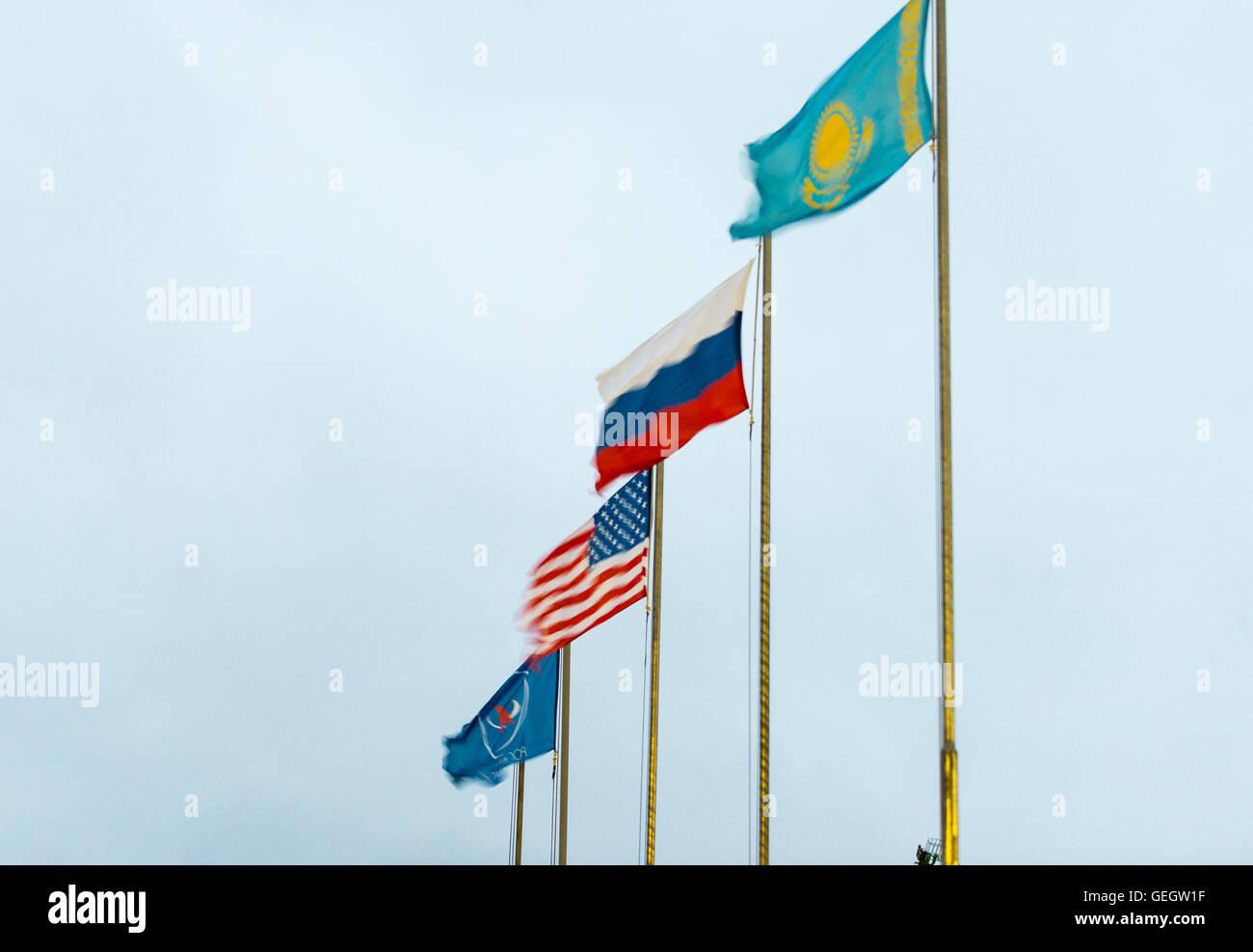 Exp 47 Soyuz Rollout  03160012 Stock Photo