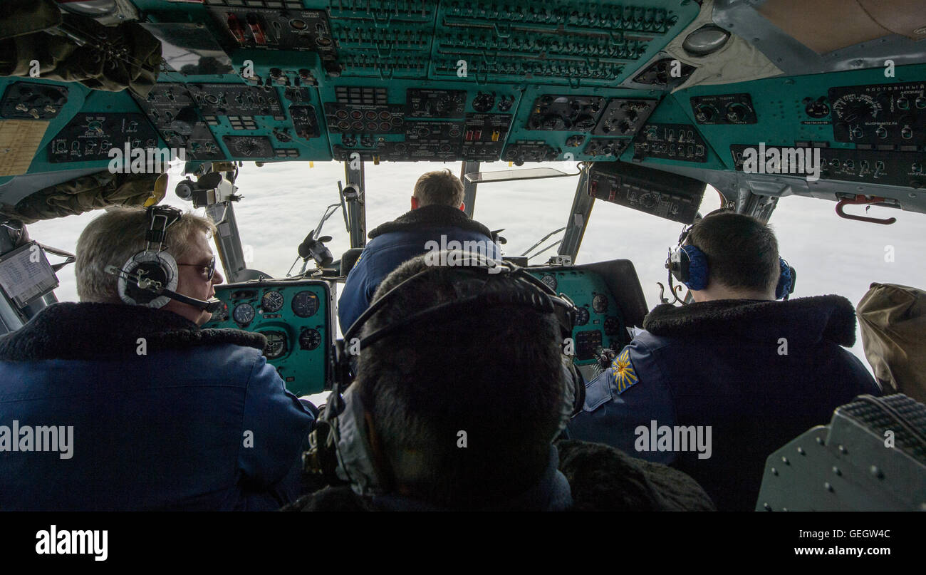Expedition 46 Landing  03020033 - Stock Image