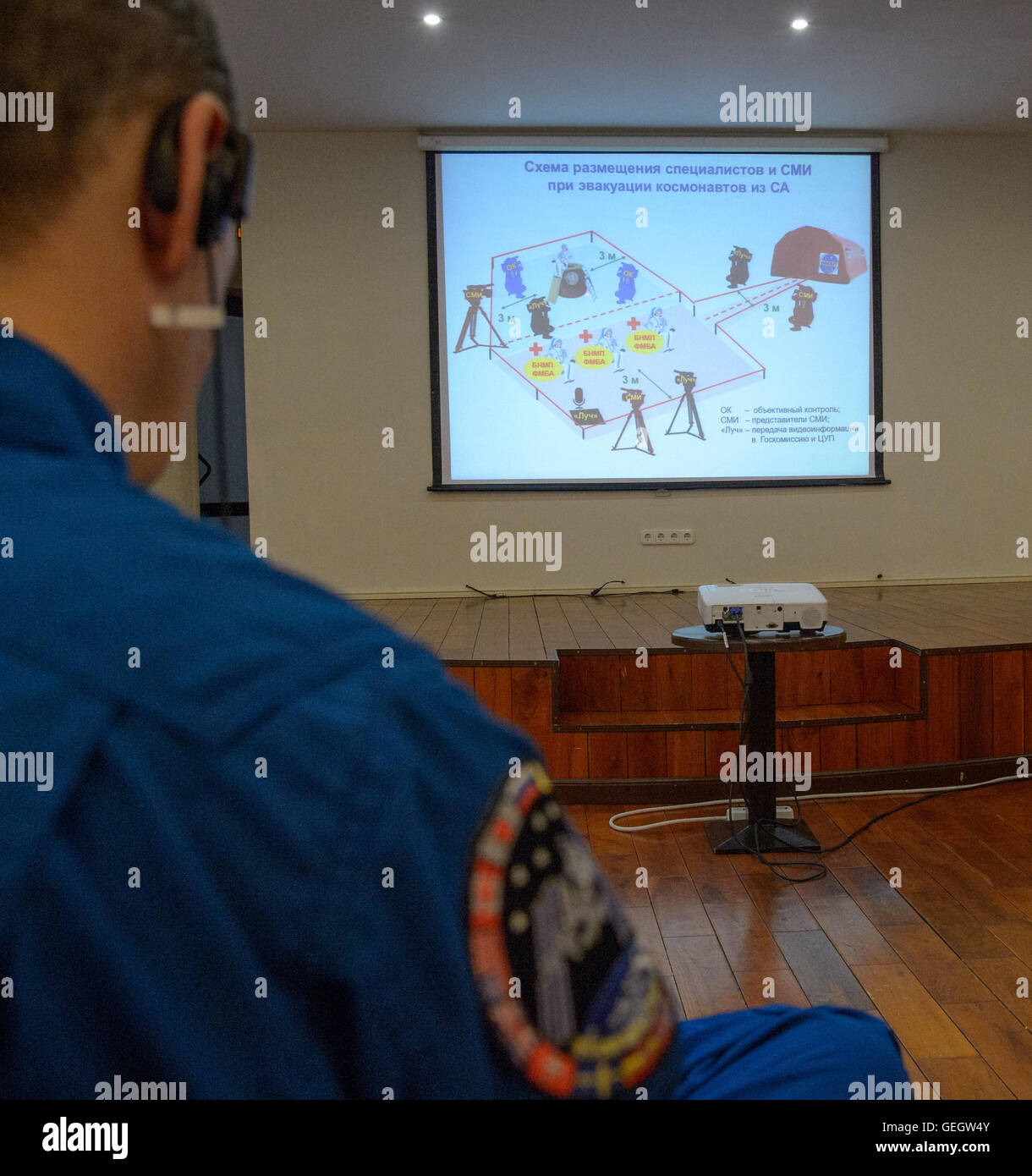Expedition 46 Landing Preparations  02290004 - Stock Image
