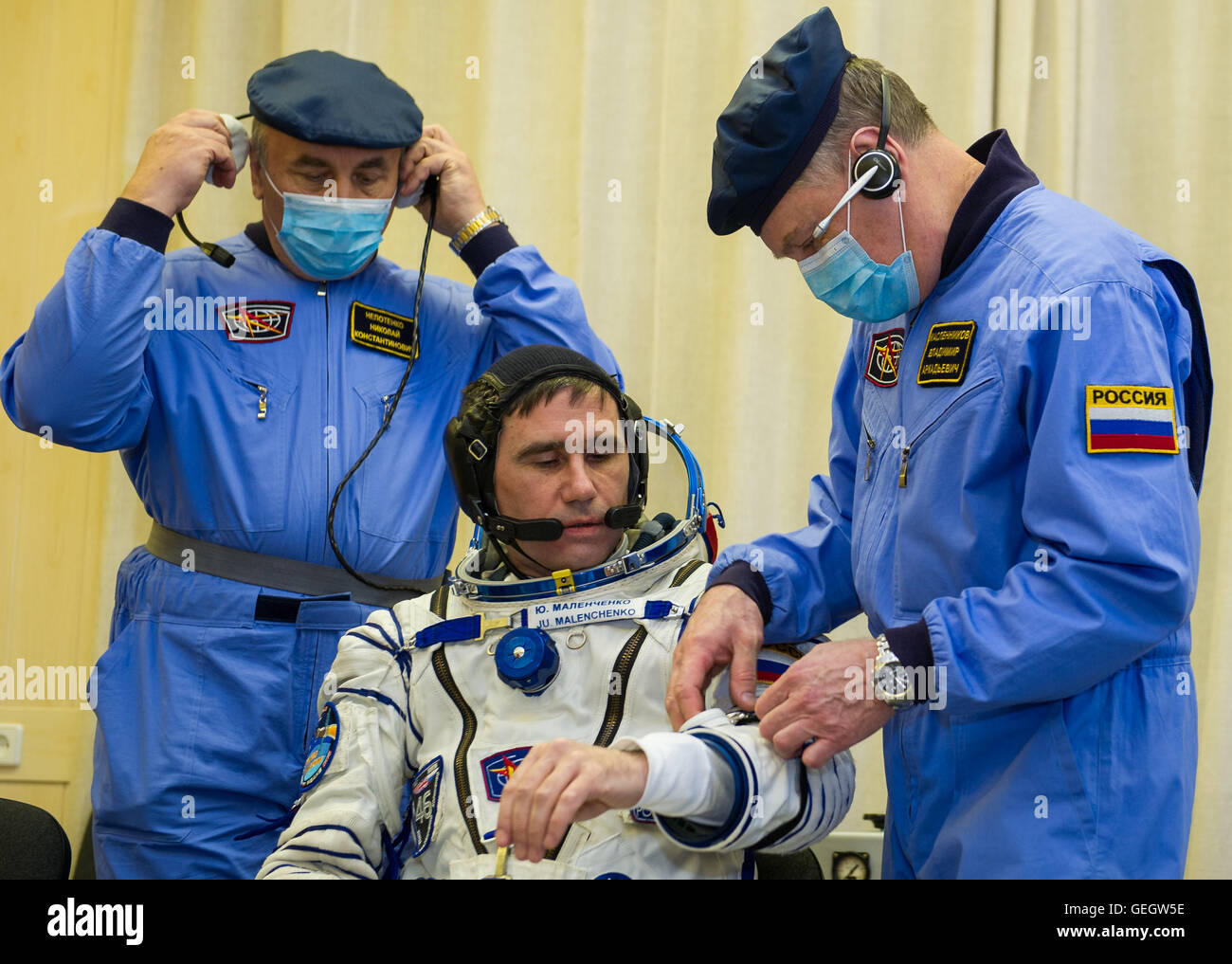 Expedition 46 Preflight  12150053 - Stock Image