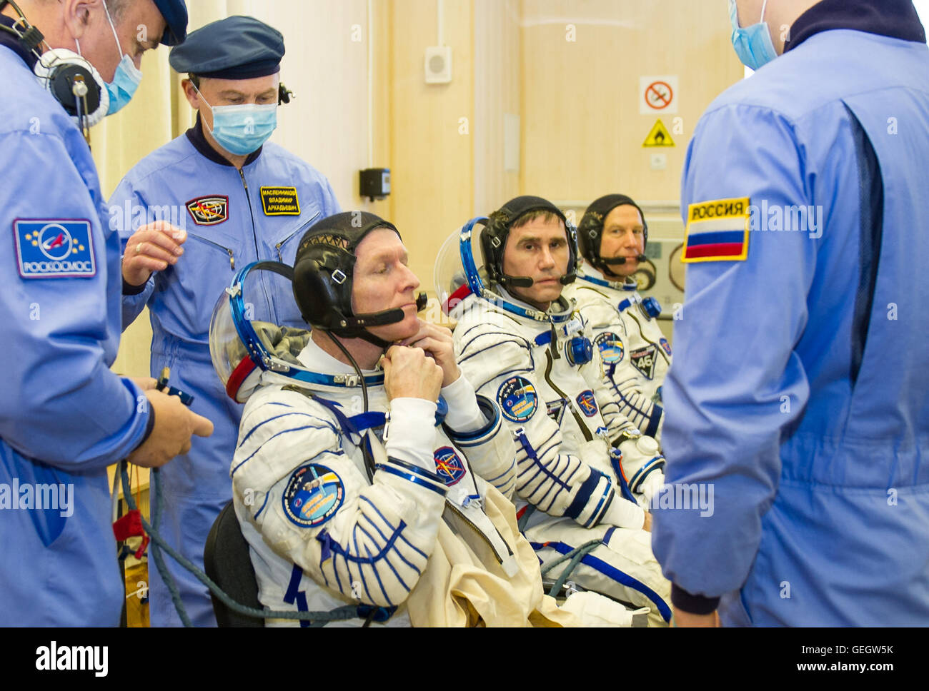 Expedition 46 Preflight  12150057 - Stock Image