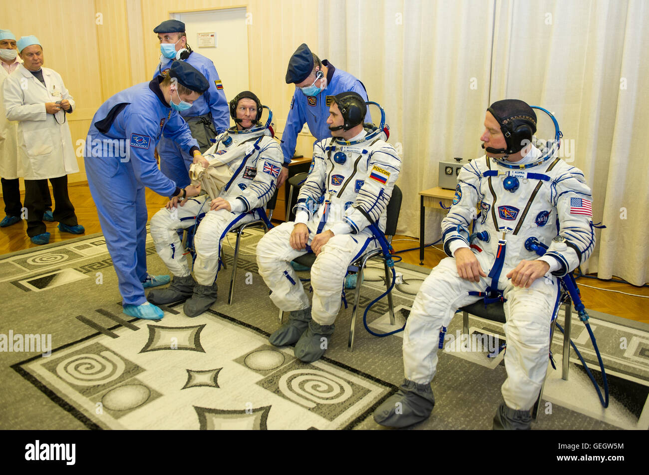 Expedition 46 Preflight  12150058 - Stock Image