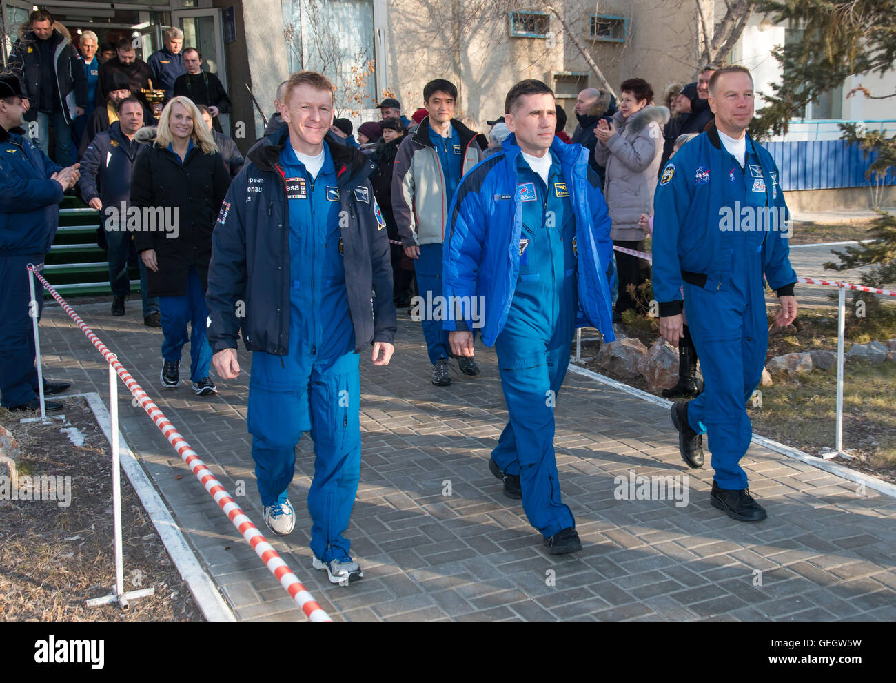 Expedition 46 Preflight  12150063 - Stock Image