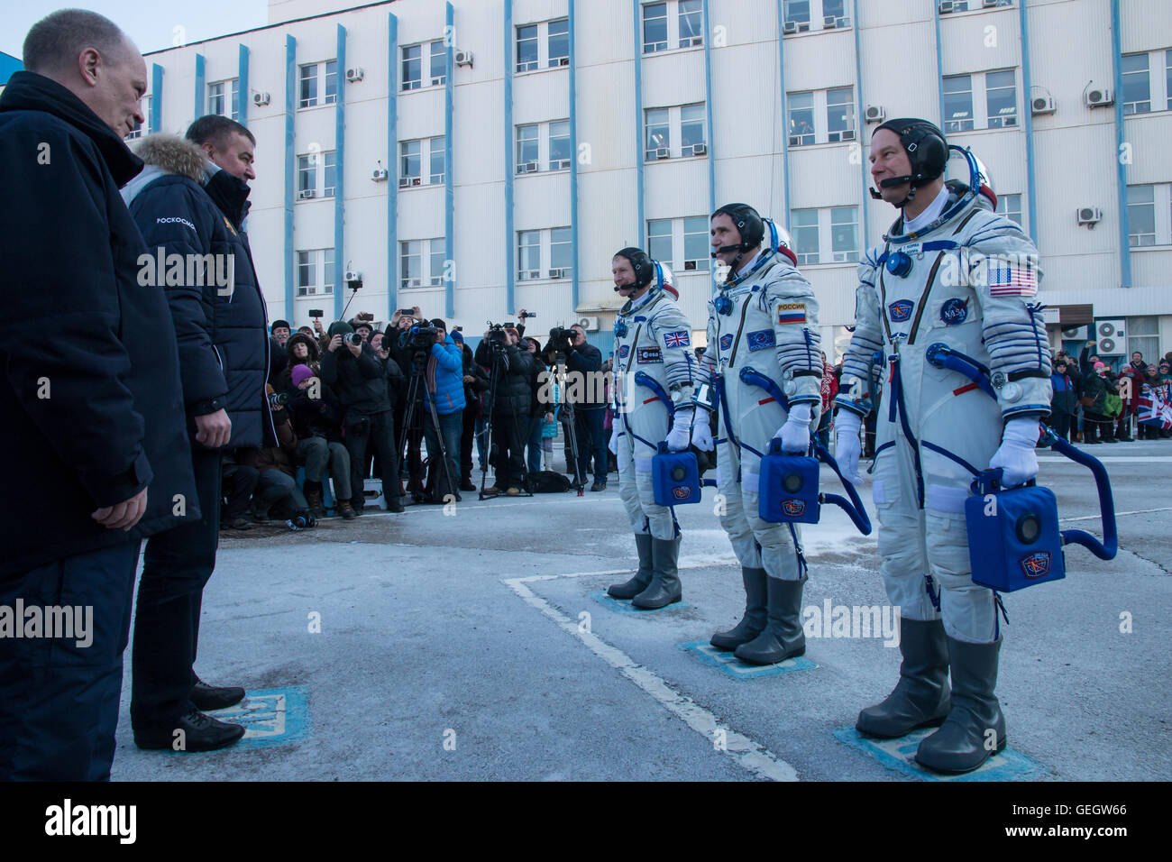 Expedition 46 Preflight  12150070 - Stock Image