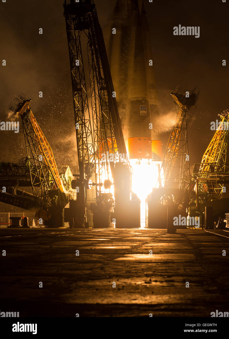 Expedition 47 Launch  03190006 - Stock Image