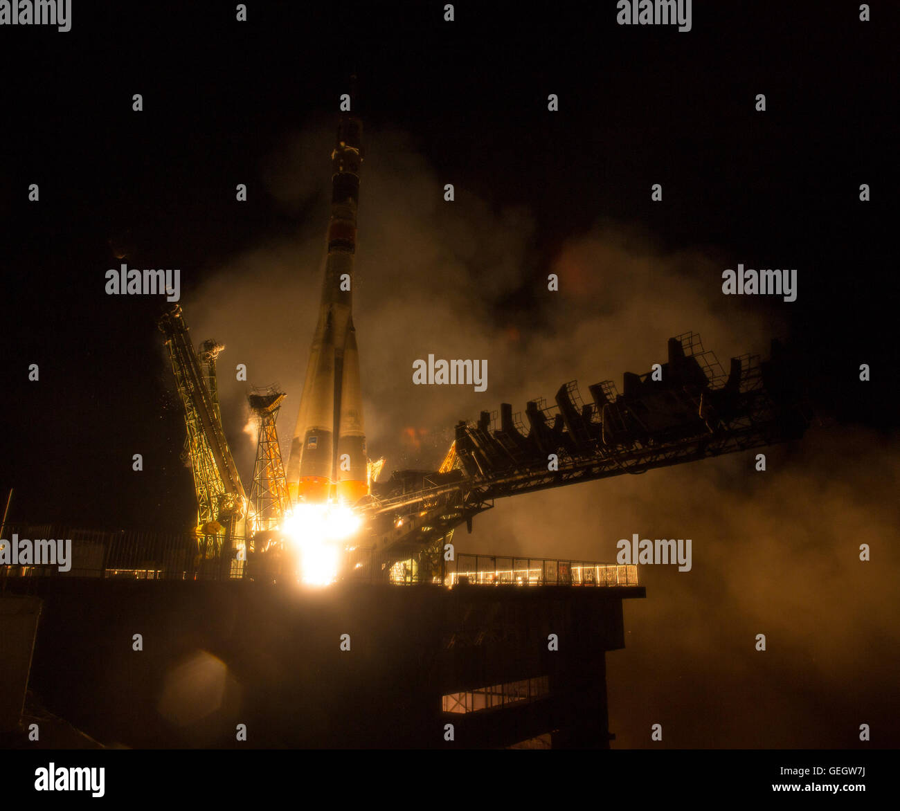 Expedition 47 Launch  03190007 - Stock Image