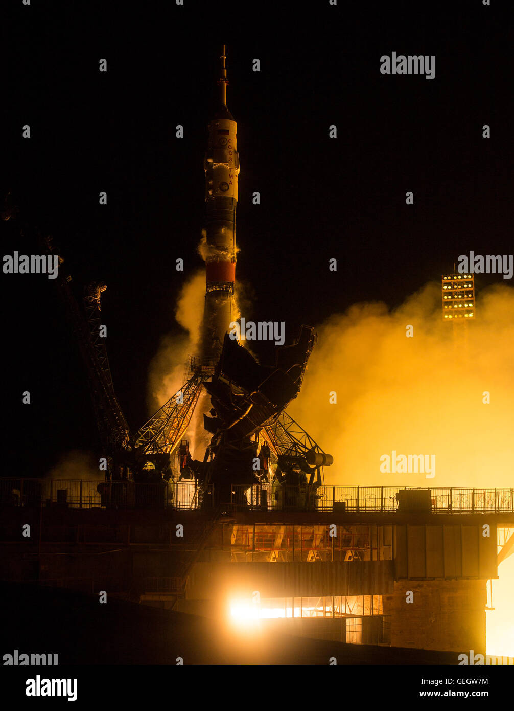 Expedition 47 Launch  03190009 - Stock Image