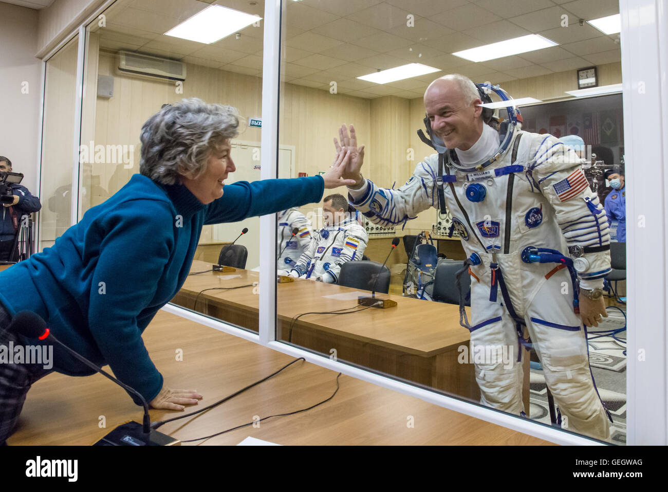 Expedition 47 Pressure Checks  03180044 - Stock Image