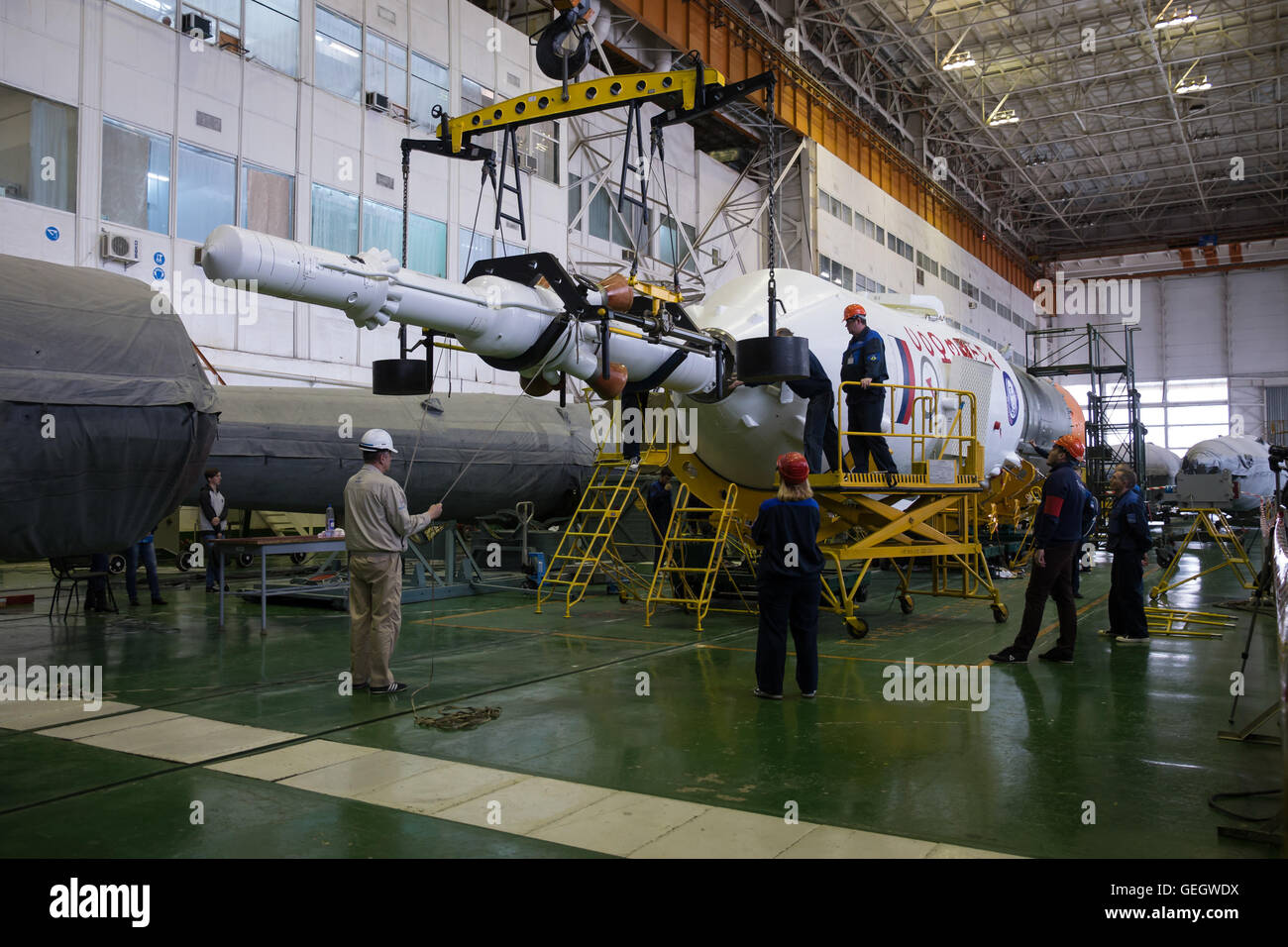 Expedition 47 Soyuz Final Assembly  03150002 - Stock Image