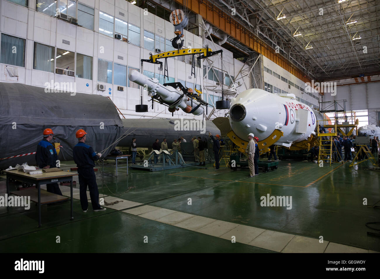 Expedition 47 Soyuz Final Assembly  03150001 - Stock Image
