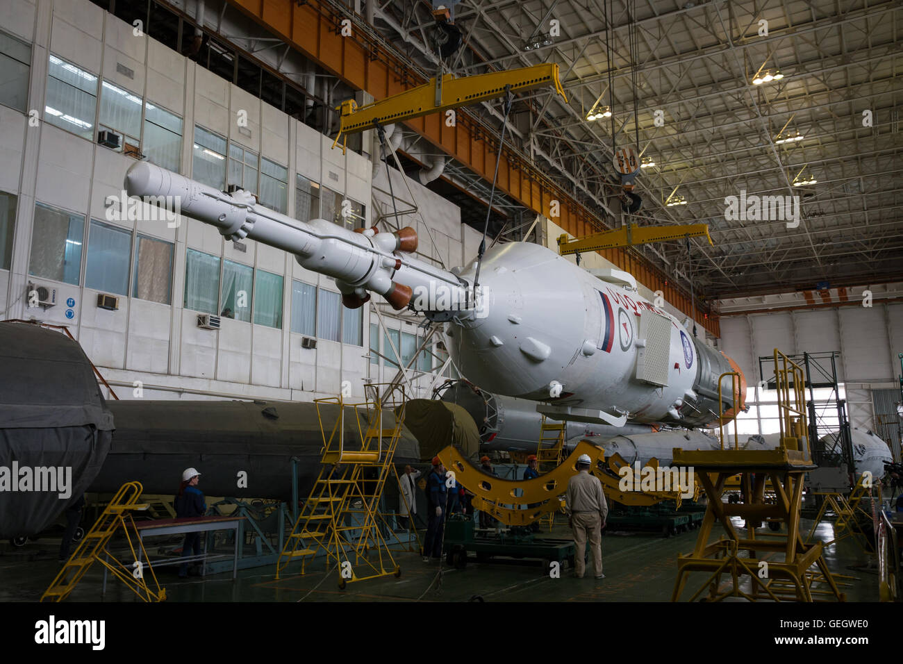Expedition 47 Soyuz Final Assembly  03150003 - Stock Image