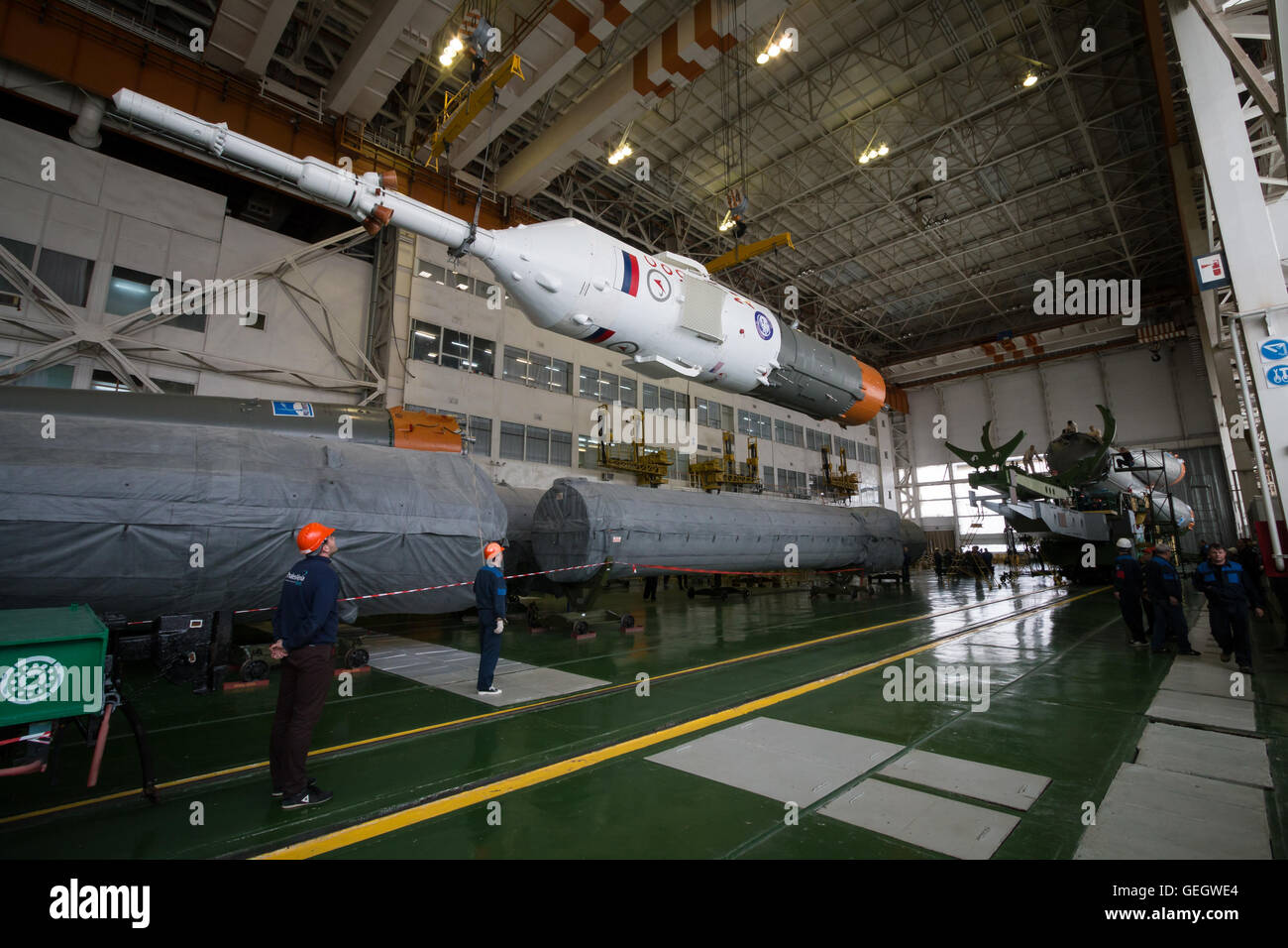 Expedition 47 Soyuz Final Assembly  03150006 - Stock Image