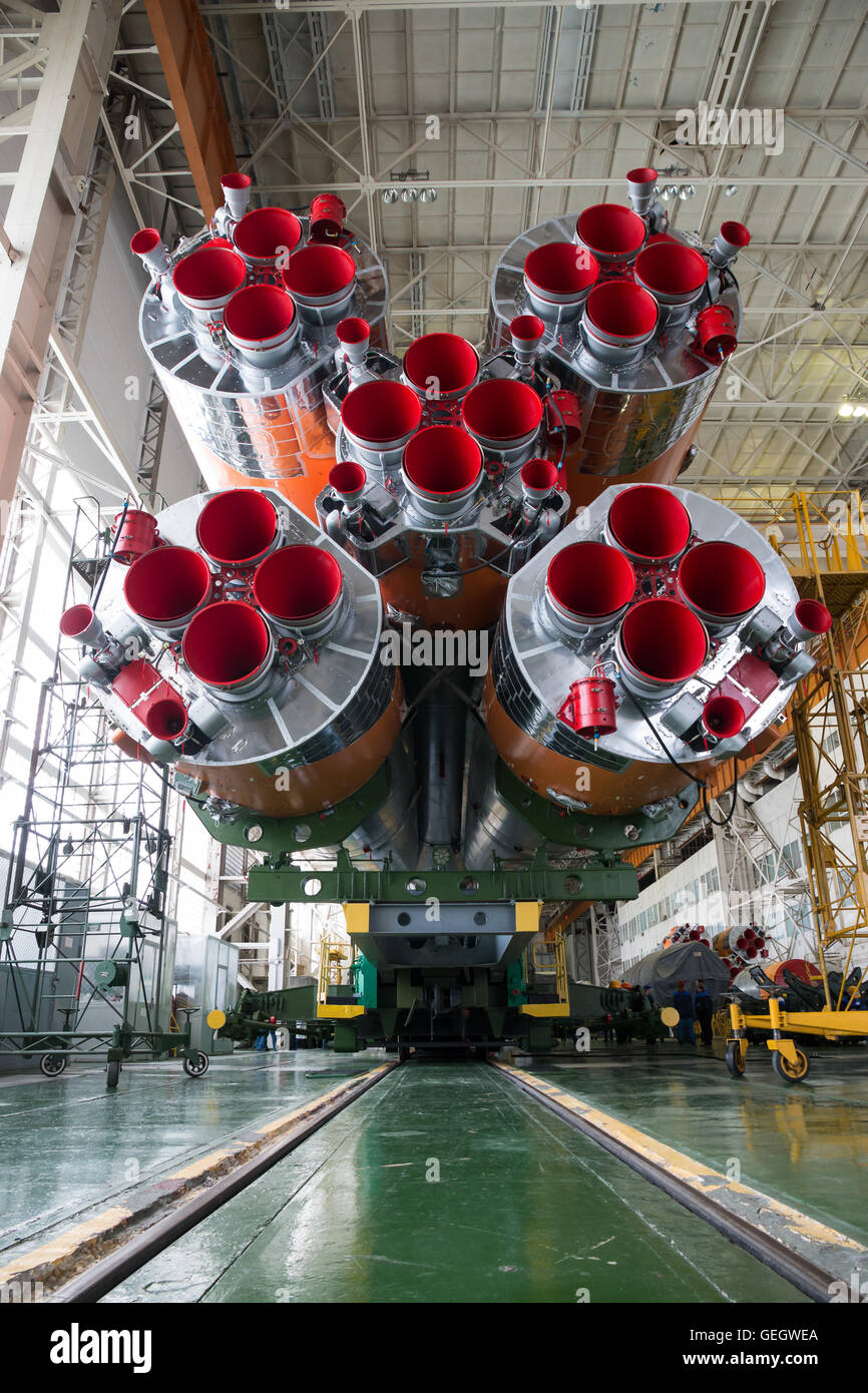 Expedition 47 Soyuz Final Assembly  03150010 - Stock Image