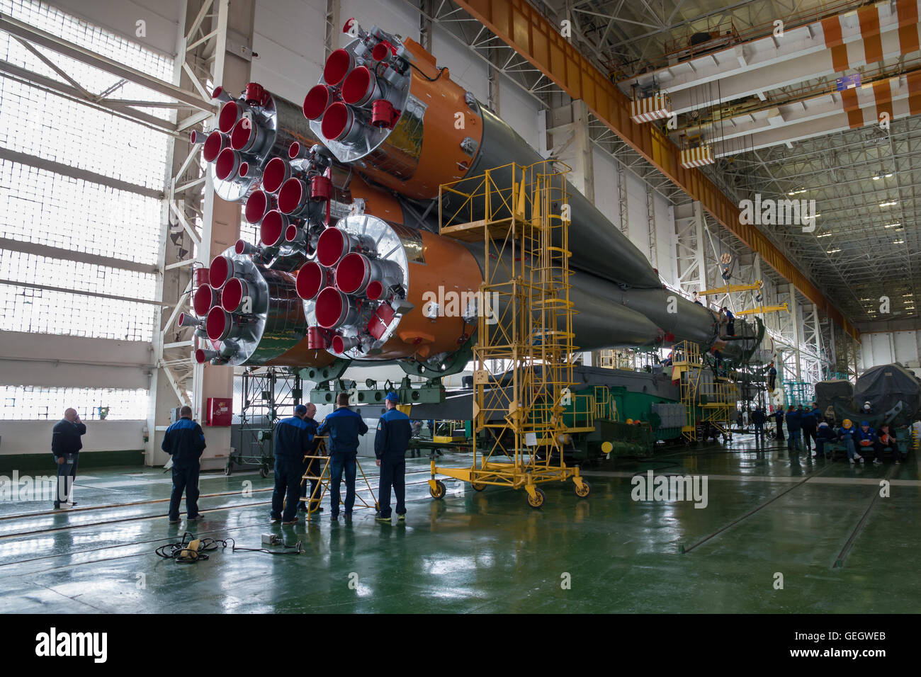 Expedition 47 Soyuz Final Assembly  03150011 - Stock Image