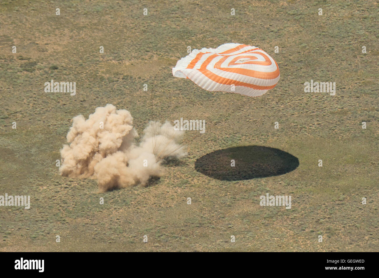 Expedition 47 Soyuz TMA-19M Landing  06180002 - Stock Image