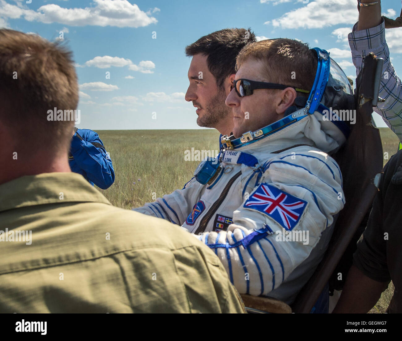 Expedition 47 Soyuz TMA-19M Landing  06180041 - Stock Image