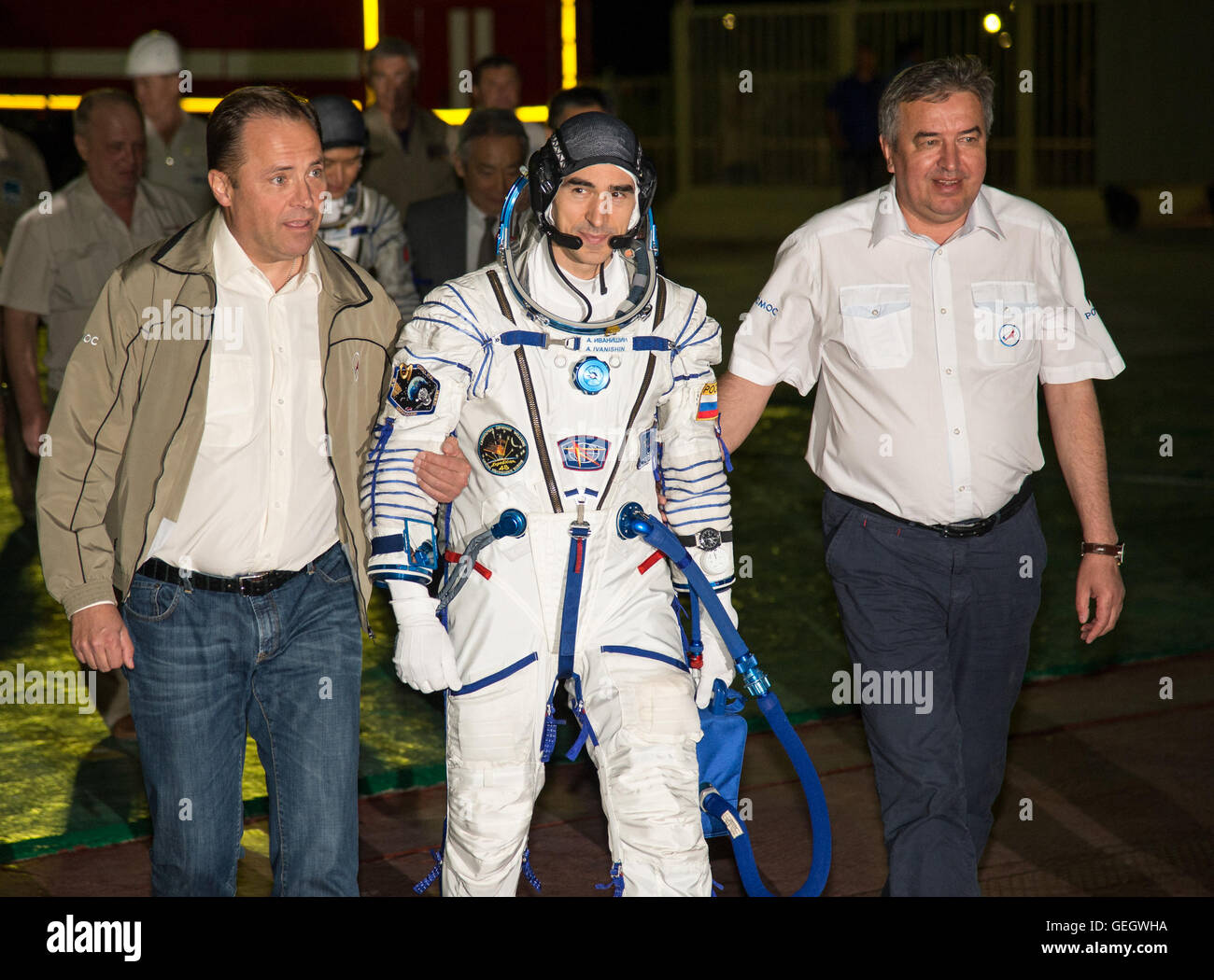 Expedition 48 Arrival at Launch Pad  07070036 - Stock Image