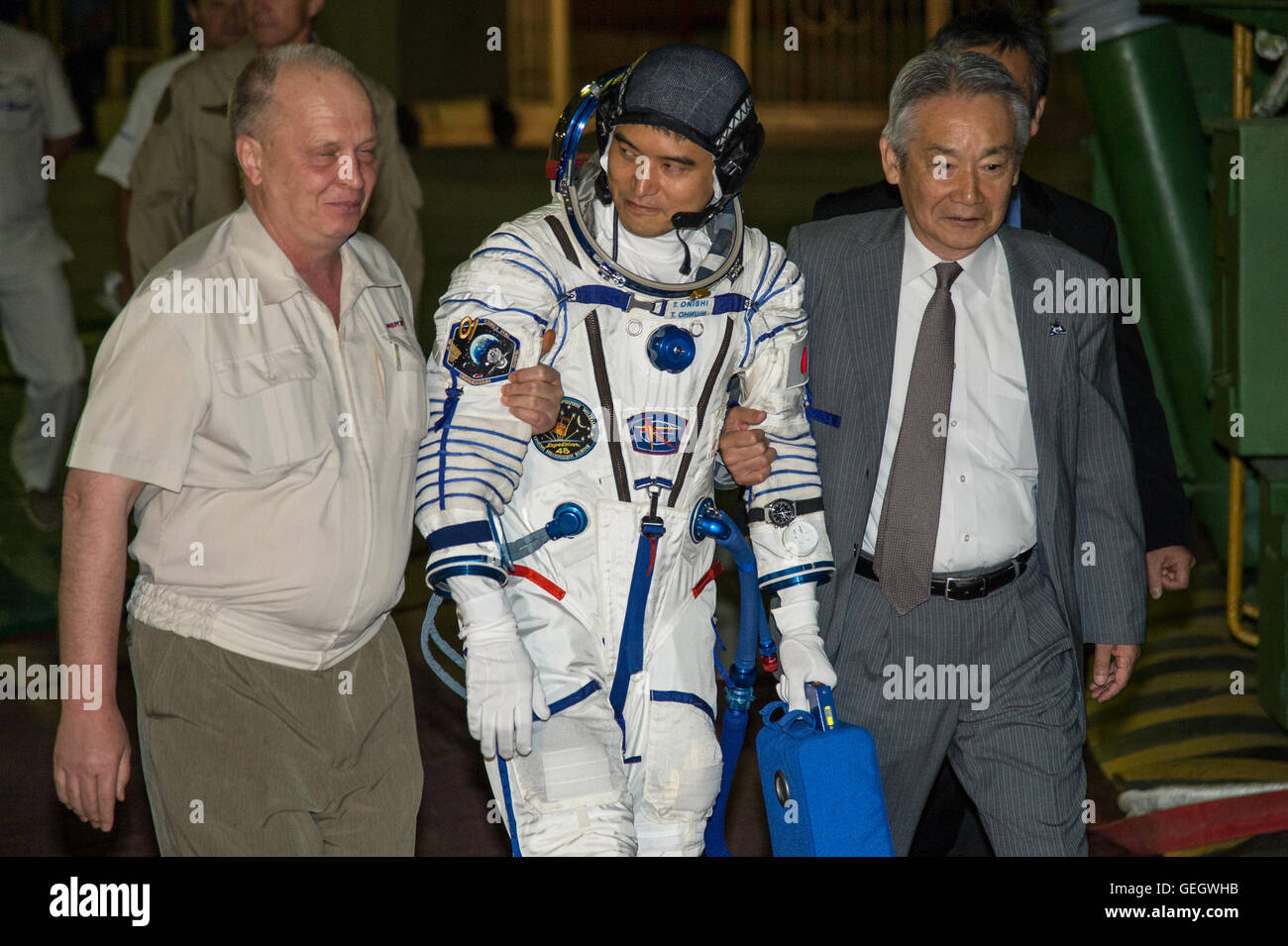 Expedition 48 Arrival at Launch Pad  07070037 - Stock Image