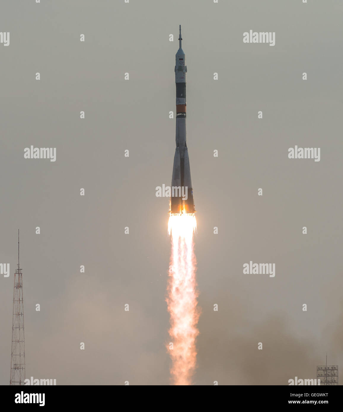 Expedition 48 Launch  07070043 - Stock Image