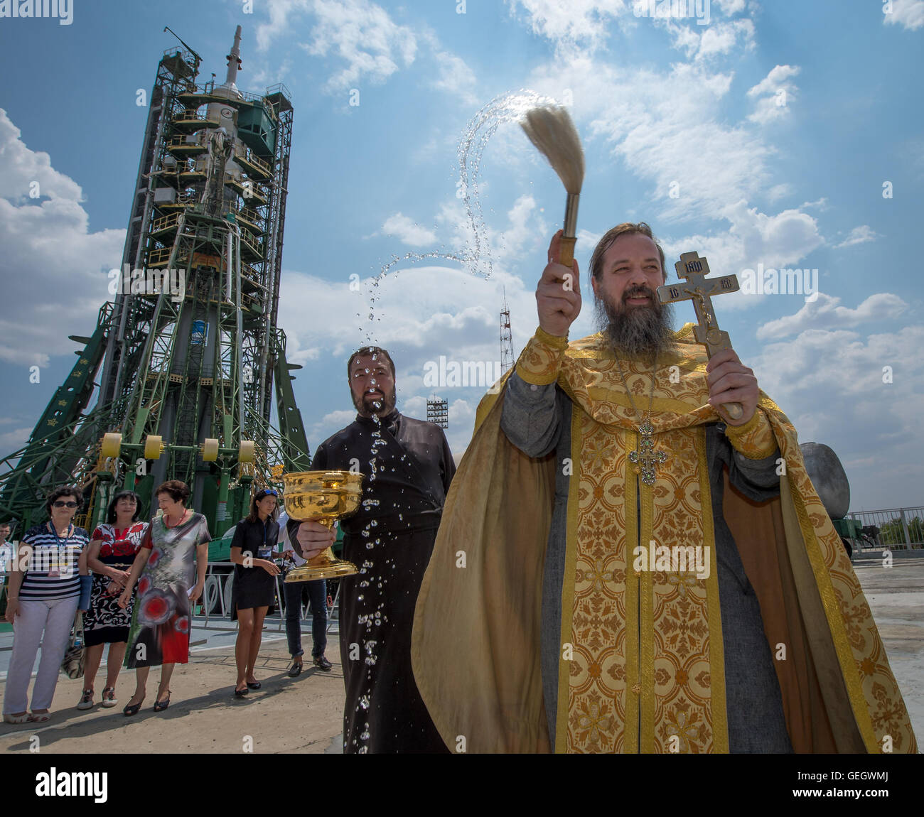 Expedition 48 Soyuz Blessing  07060001 - Stock Image