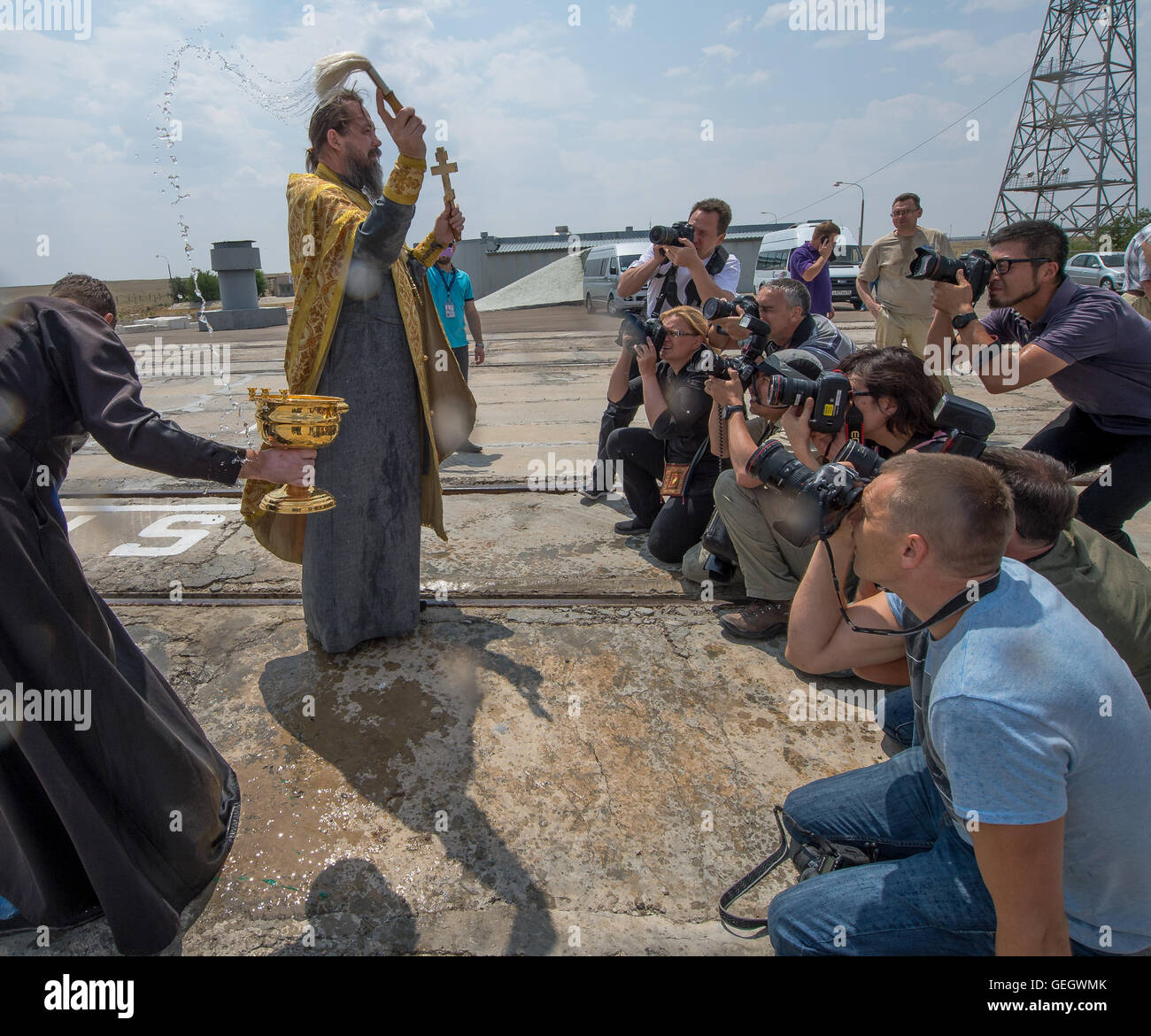Expedition 48 Soyuz Blessing  07060009 - Stock Image