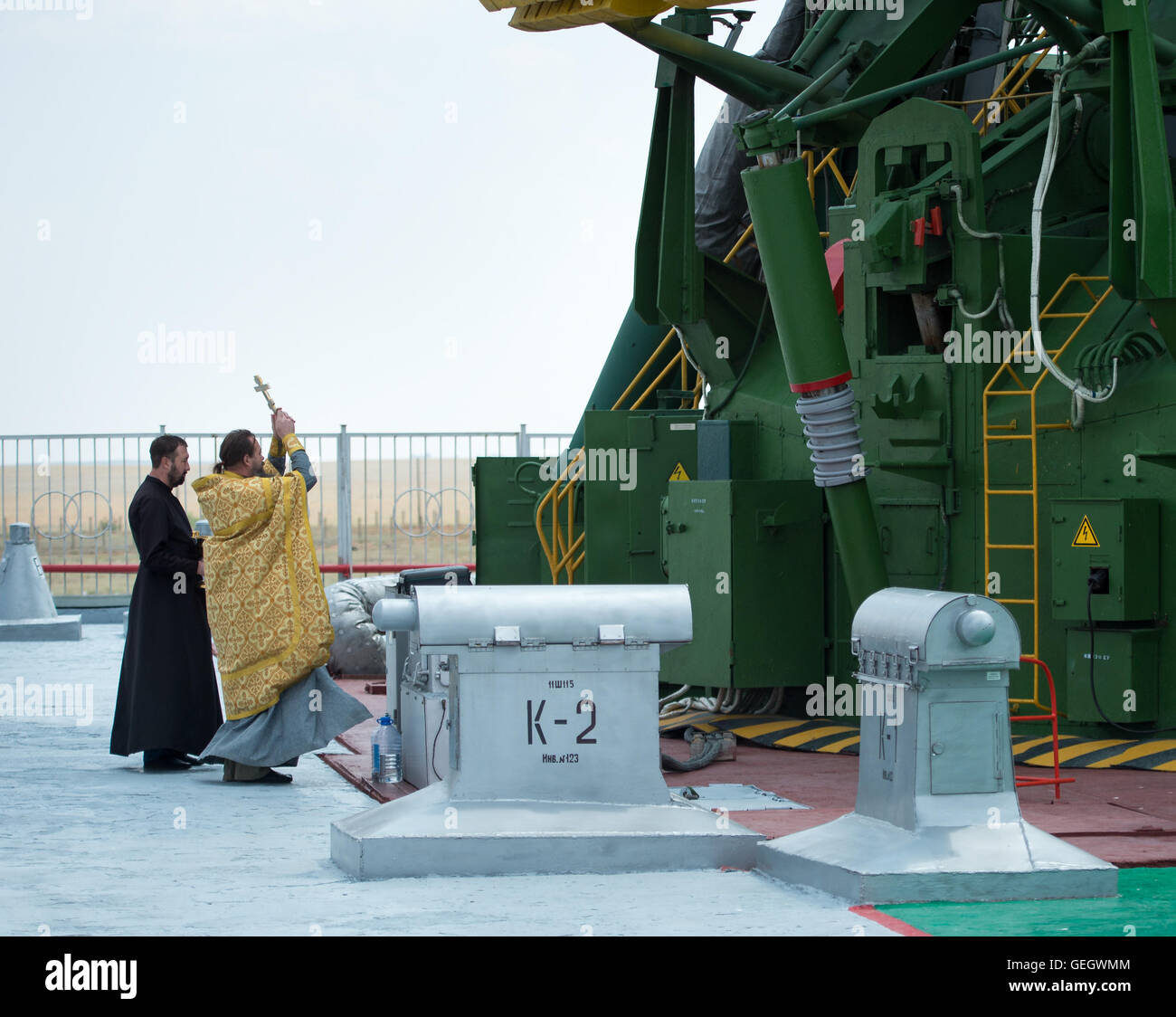 Expedition 48 Soyuz Blessing  07060010 - Stock Image