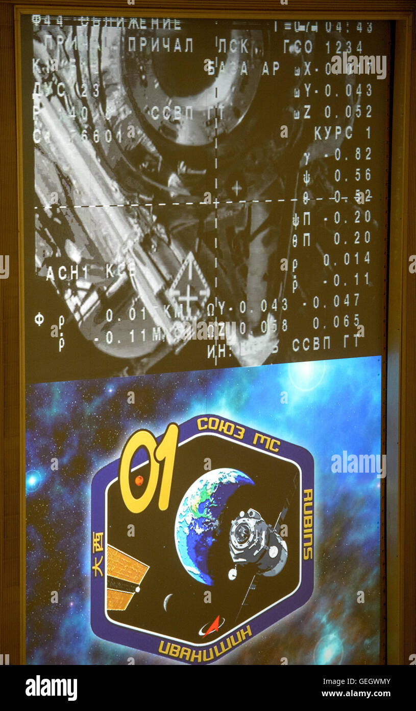 Expedition 48 Soyuz Docking  07090006 - Stock Image
