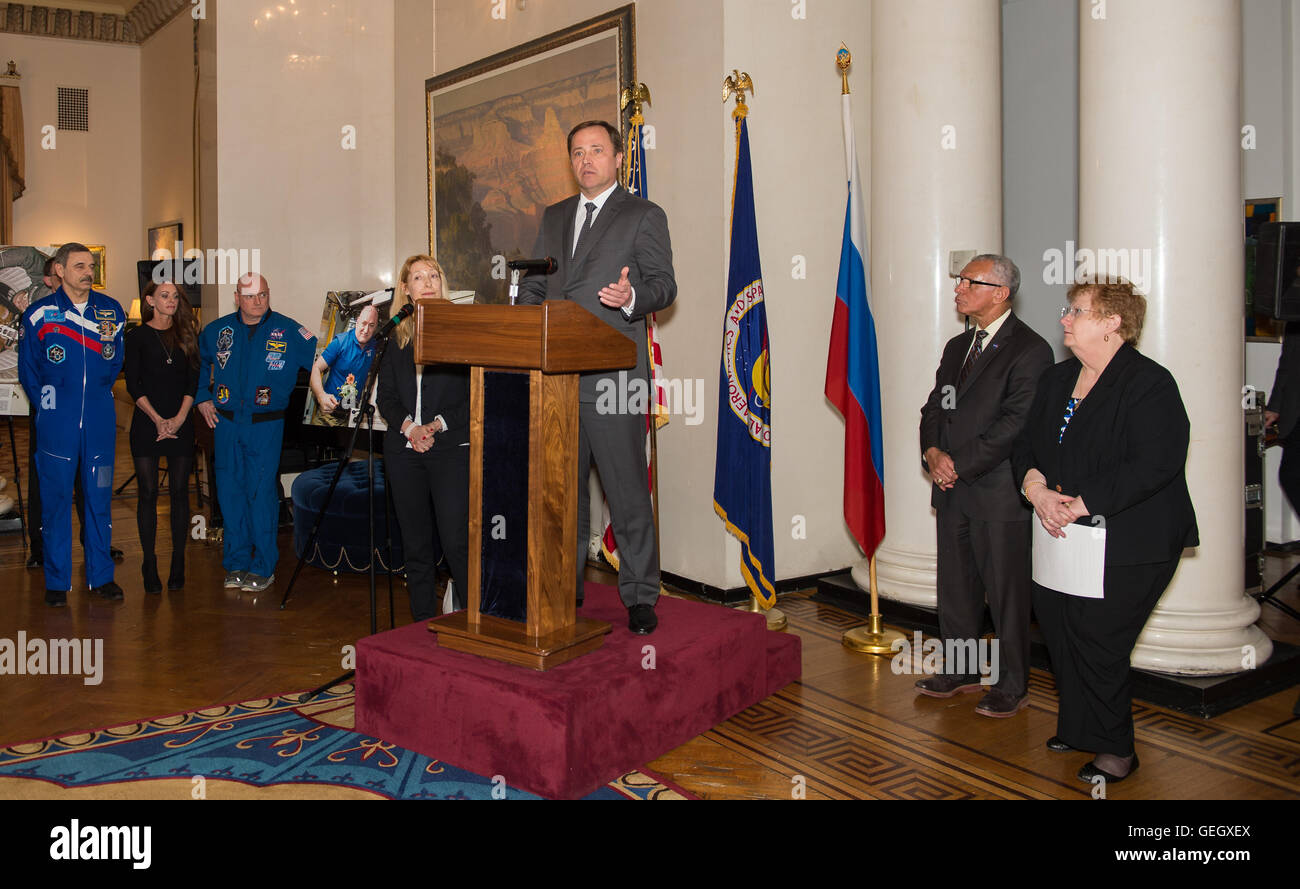 Spaso House Reception for International Space Station Partners  03240017 - Stock Image
