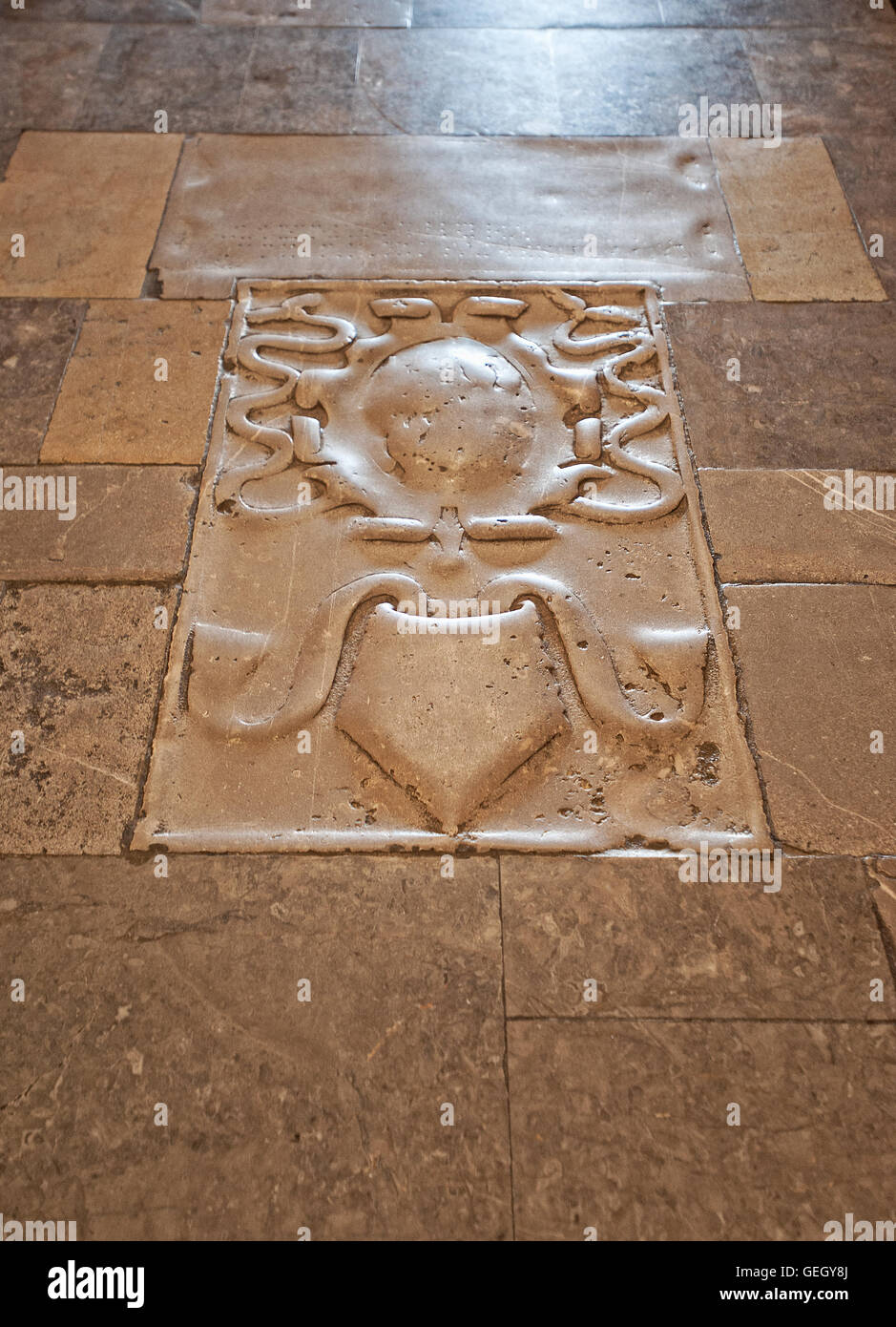 Italy Sicily Ceaflù cathedral interior . Floor Stock Photo