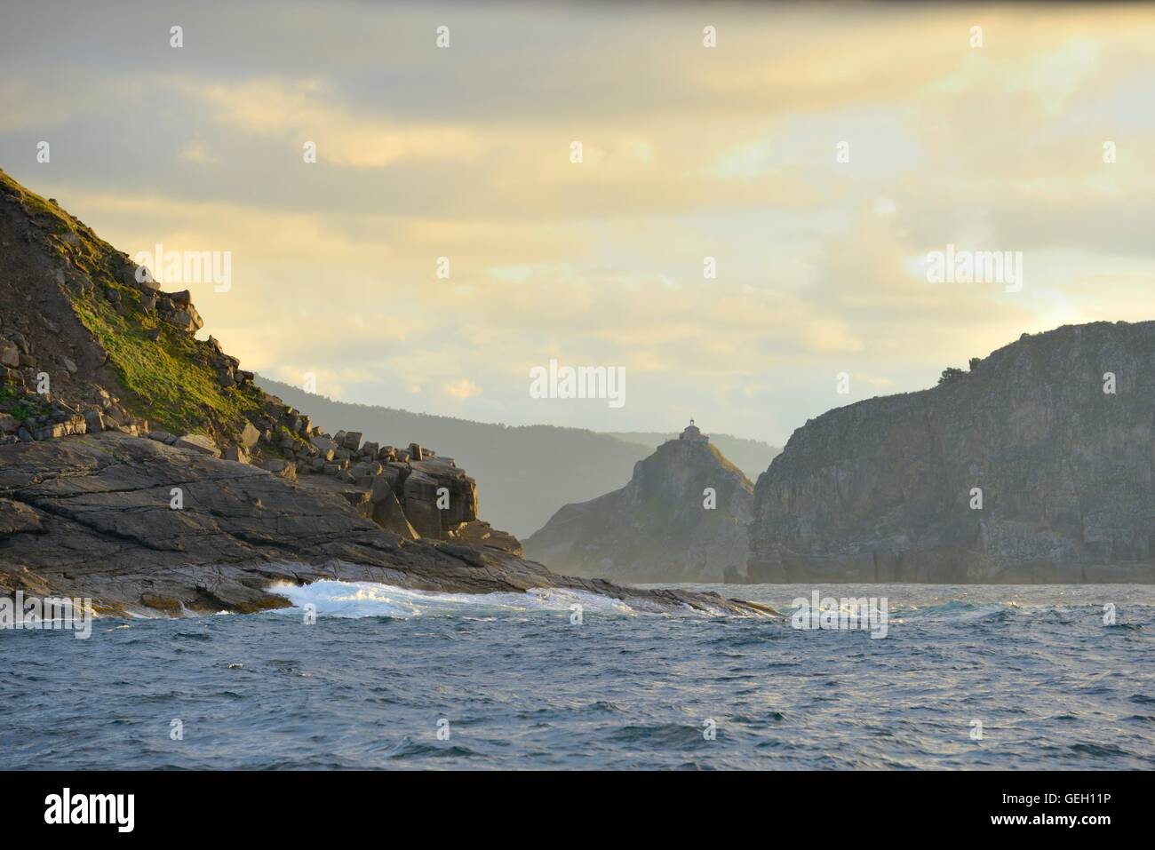 The famous hermitage of San Juan De Gaztelugatxe (Vizcaya, Basque-country), and its beautiful surroundings - Stock Image