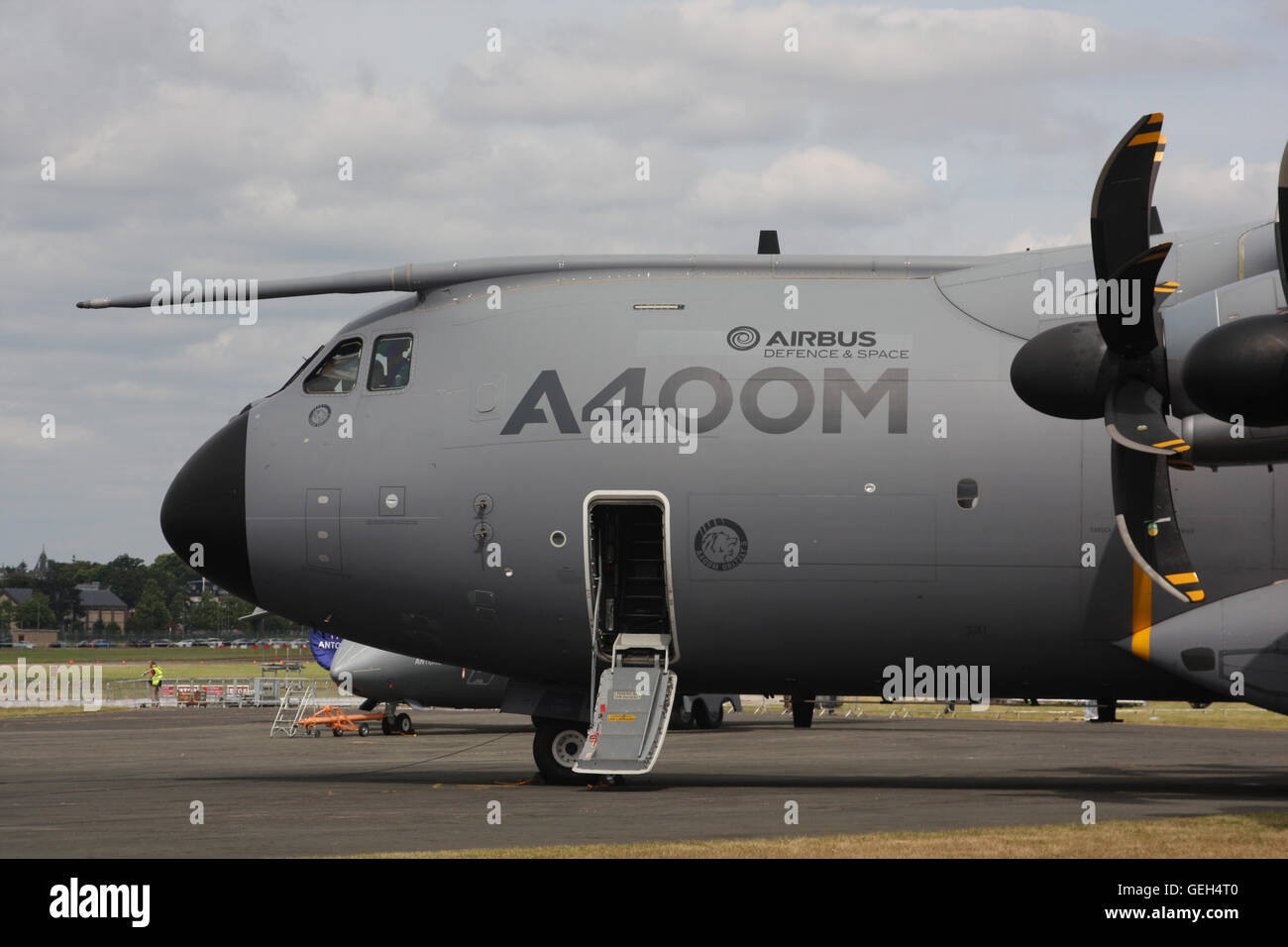 A400M MILITARY TRANSPORT PLANE - Stock Image