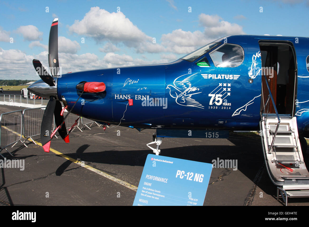 pilatus 75th anniversary PC 12 - Stock Image