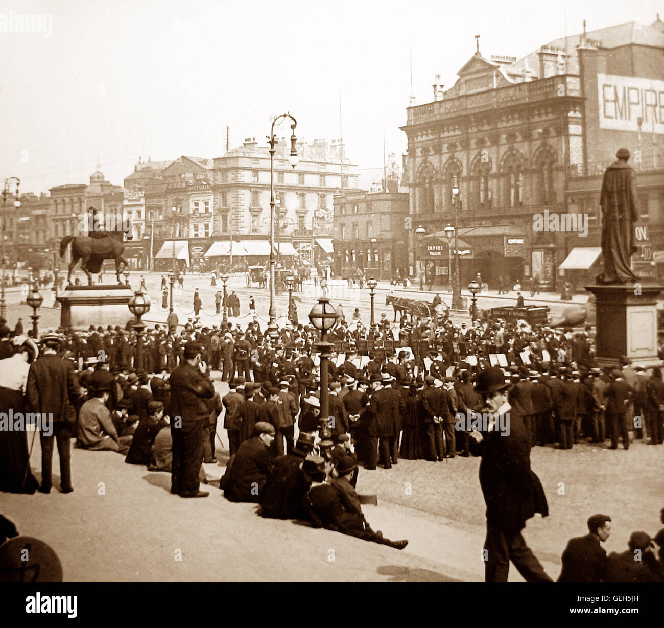 St. George's Place, Liverpool - early 1900s - Stock Image