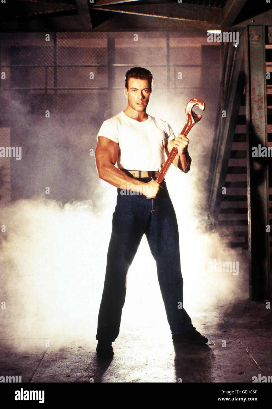 Jean-Claude Van Damme *** Local Caption *** 1989, Death Warrant, Mit Staehlerner Faust - Stock Image