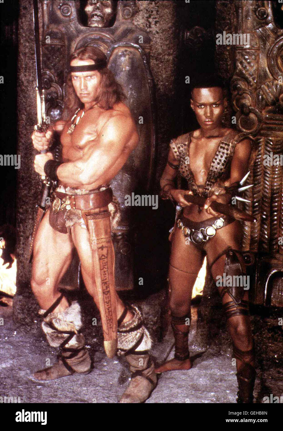 Arnold schwarzenegger grace jones unexpectedness!