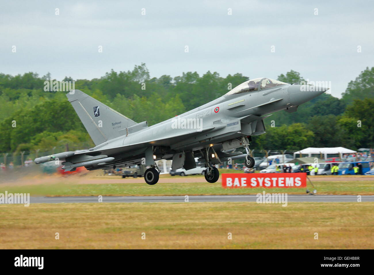 Italian Typhoon Eurofighter at RIAT Fairford, 2013 - Stock Image