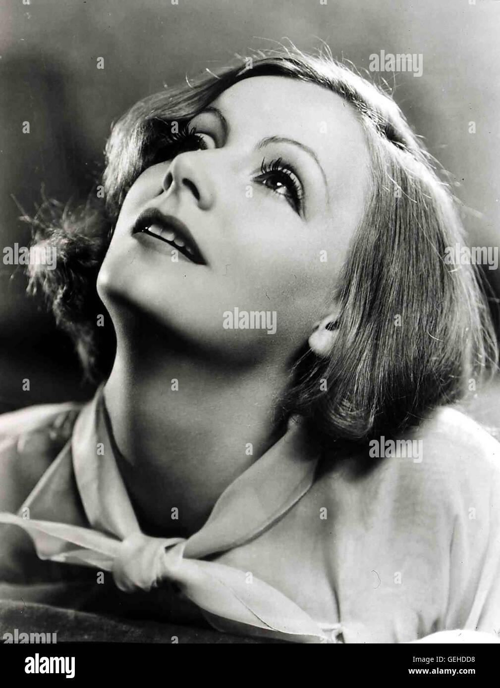 Greta Garbo Portrait circa 1934, 1930s, Garbo, Greta, Portrait, Greta Garbo Stock Photo