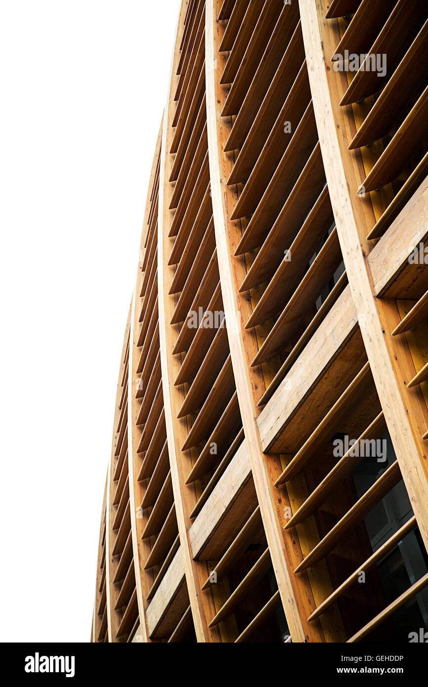 MILAN, ITALY - MAY 31, 2016: Detail of Unicredit Pavilion in Milan, Italy. Its a building iin Porta Nuova designed Stock Photo