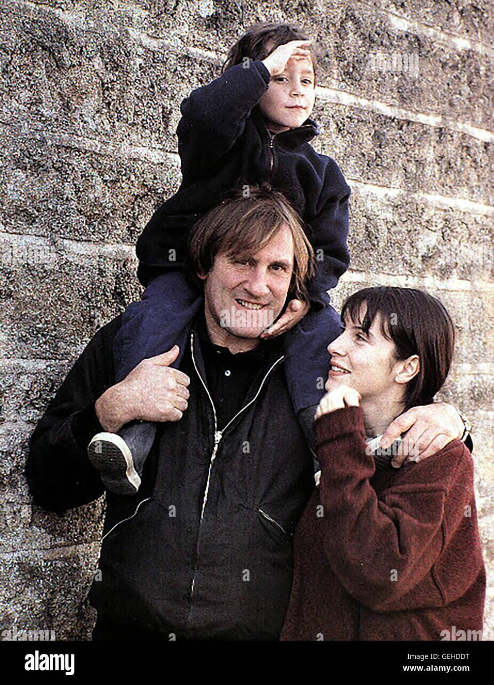 Gerard Depardieu, Antoine Pialat, Geraldine Pailhas Obgleich Sophie (Geraldine Pailhas) sich ein gemeinsames Leben Stock Photo