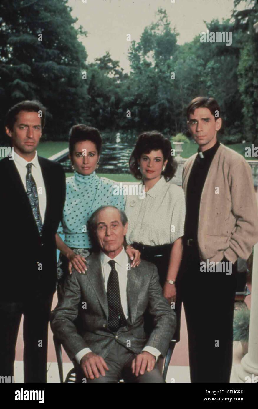 v.L.: Roscoe Born, Susan Lucci, Joseph Wiseman, ?, Thom Bray   Die schoene Adoptivtochter eines Gangsterbosses wird - Stock Image